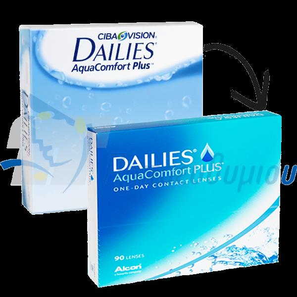 Focus Dailies Aqua Comfort Plus 90 pack Ημερήσιοι Φακοί Επαφής απο την alcon / ciba vision 90 τεμαχίων στα οπτικά Παπαευθυμίου