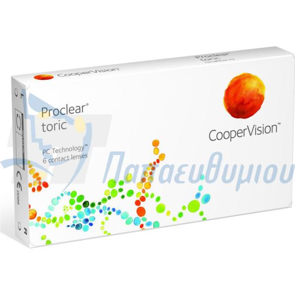 Μηνιαίοι αστιγματικοί φακοί επαφής Proclear Toric από την Cooper Vision